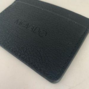 MOVADO Credit Card Slip Holder Slim Wallet Leather